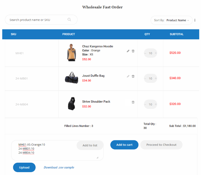 magento-b2b-quick-order-multiple-product