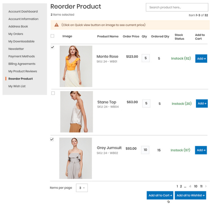 magento-reorder-product-table-view