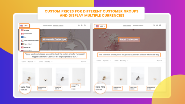 multiple currencies Shopify app